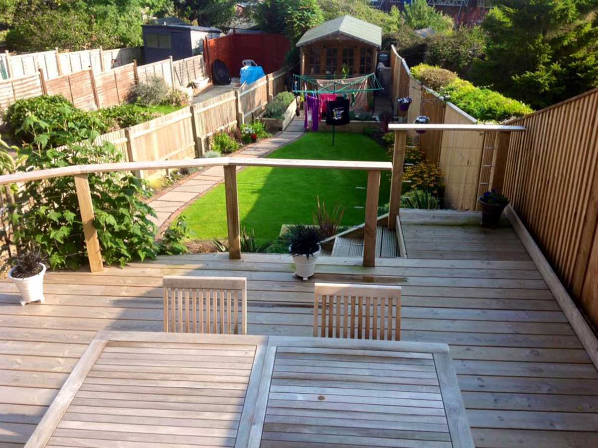 photo of a beautiful decking area